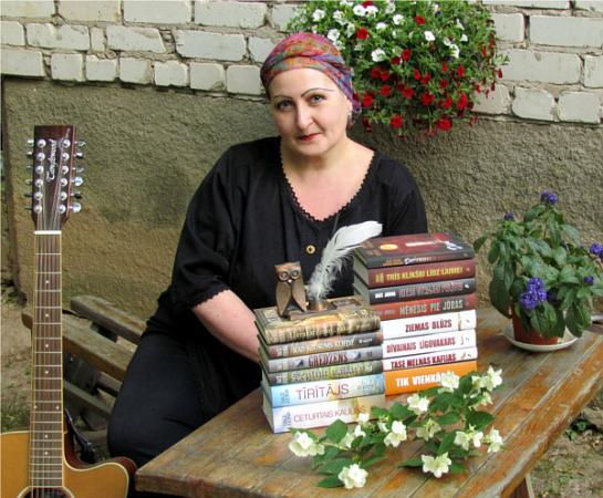 Rakstniece Dace Judina un viņas grāmatas